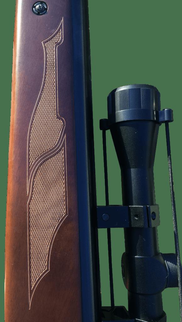 Hatsan 95 Air Rifle Stock Checkering